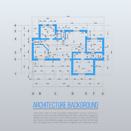 Architectural background. Vector illustration.