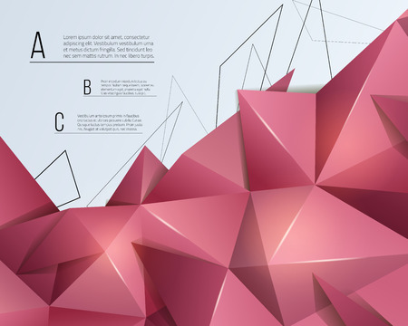 Low poly astract background. Triangular vector illustration. Ilustração