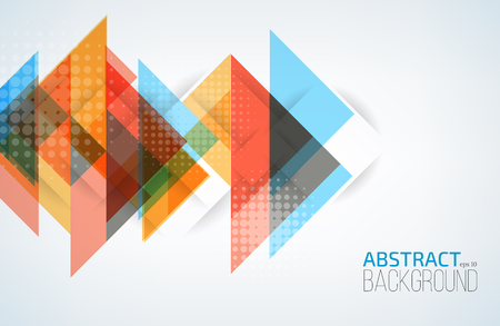 Geometric abstract background with triangles. Vector illustration.