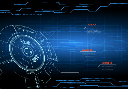 Sci-fi futuristic user interface. Vector illustration.
