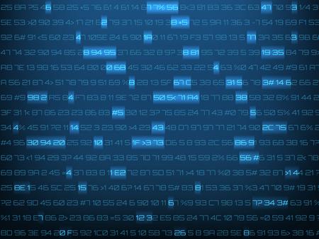 Background with computer code. Vector illustration. Ilustração Vetorial