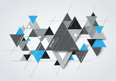 Abstract modern background with geometric shapes. Vector illustration.
