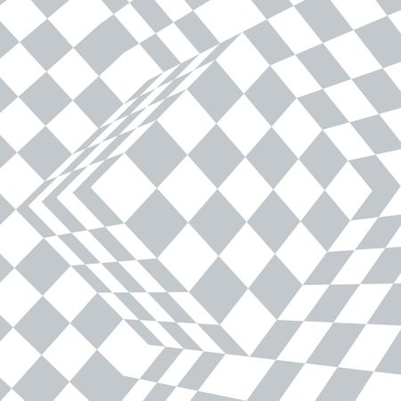 Checkered black and white abstract wavy background Ilustrace