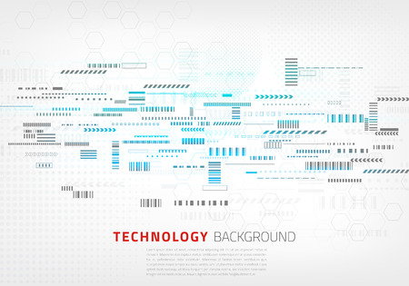 Technology background with small design elements vector illustration for presentations, polygraph or banners. Illustration