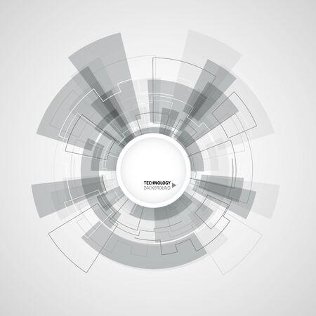 fond de technologie abstraite. illustration vectorielle avec des éléments futuristes