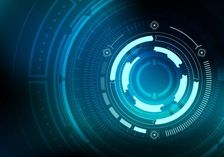 Sci fi futuristic background. Vector illustration. Vettoriali