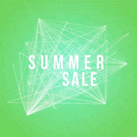 Summer sale vector illustration. Abstract background with lines and text. Illustration