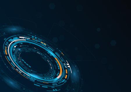 Sci fi futuristic user circular interface. Vector illustration.