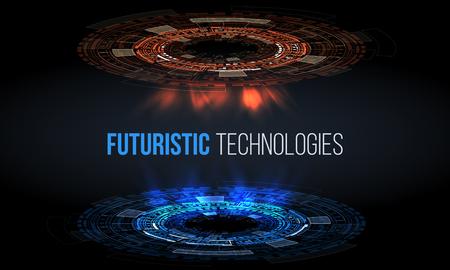 Sci fi futuristic user interface. Vector illustration.