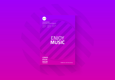 Geometric brochure design template. Vector illustration.