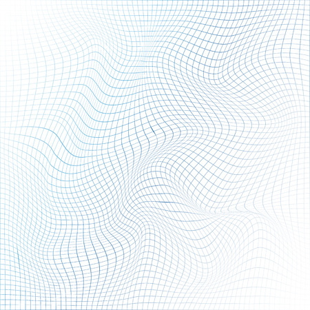 Abstract 3d mesh. Digital surface with lines. Vector illustration. Иллюстрация