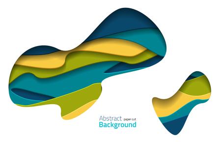 Abstract paper cut background. Colorful vector illustration with 3d effect. Vektoros illusztráció