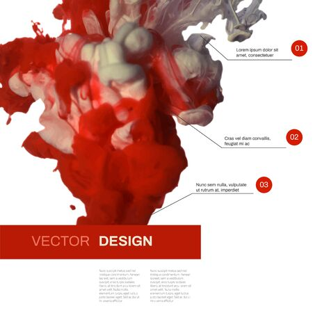 Vector background. Cloud of ink in water. Abstract illustration for posters, banners, cards or web design.