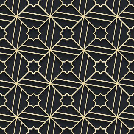 Arabic seamless ornament. Islamic geometric background. Eps 10 illustration.