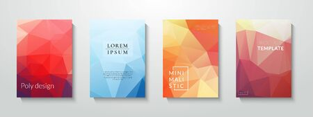 Colorful polygonal abstract background. Low poly gradient design. Eps10 brochure template