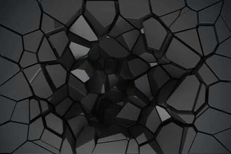 cranny: 3D render cracked wall texture Stock Photo