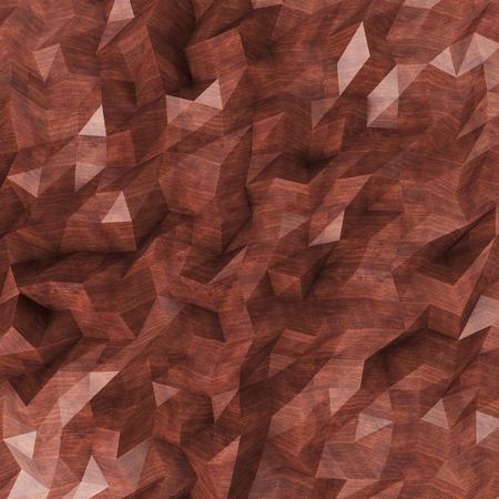 Background of triangles dark wood