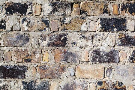 The wall of burnt stone Фото со стока