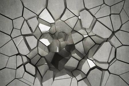 3D render cracked wall texture Фото со стока