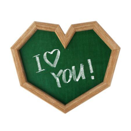 Blackboard shaped as heart