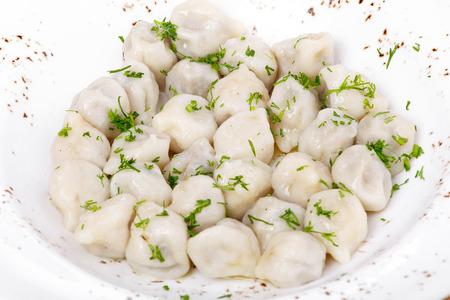 Dumplings with greens