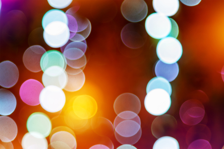 Abstract bokeh background of Christmas Light