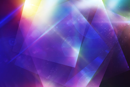 Background image of color lights and geometric shapes