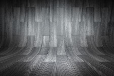 Curved black background