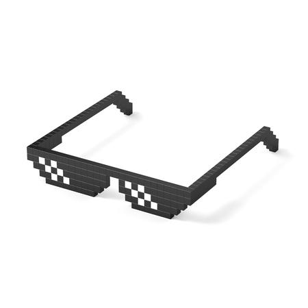 Black pixel glasses Фото со стока