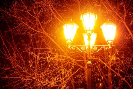 Street lamp close-up background Фото со стока