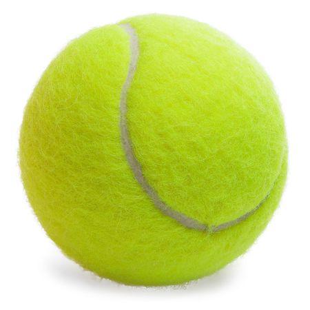 tennis: Balle de tennis isol� sur le fond blanc