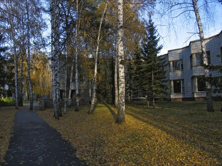 novosibirsk: Russia. Novosibirsk. Akademgorodok. Transition between the right and left sides of House of Scientists