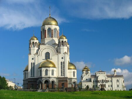 Cathedral in the names of all saints. Russia.  Ekaterinburg. photo