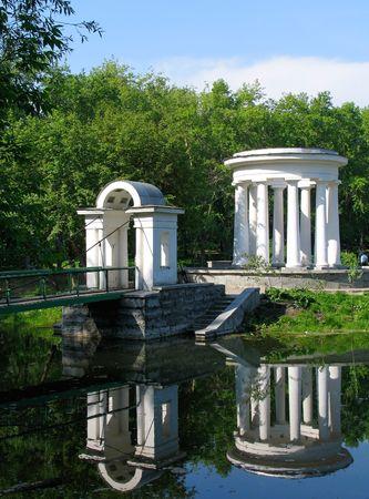rotunda: Rotunda on the pond. Russia.  Ekaterinburg