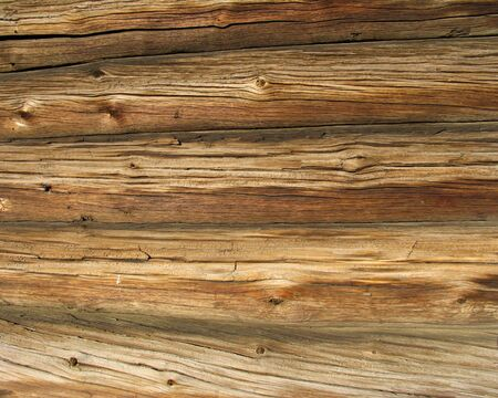 decompose: Logs in the wall of old russian izba Stock Photo