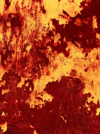 Old blood-red Wall background Stock Photo