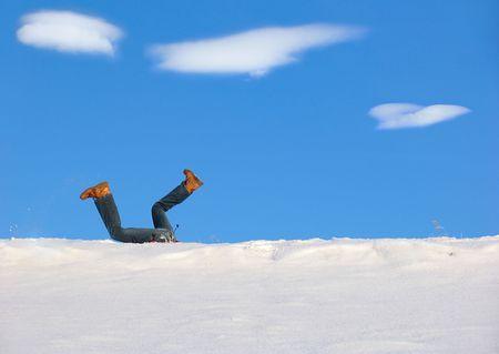 snowdrift: Big Fall into snowdrift