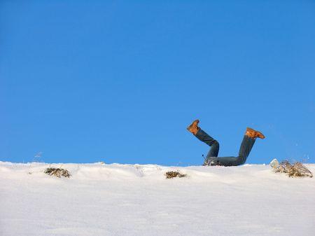 winterday: Big Fall into snowdrift