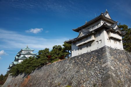 Summer view of Nagoya Castle under blue sky. Japan Stock Photo - 3268142