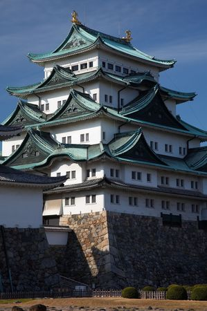 Summer view of Nagoya Castle under blue sky. Japan Stock Photo - 3268140
