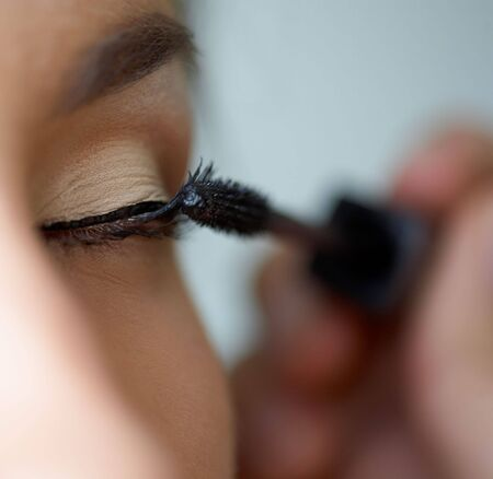 Close-up shot of work of make-up specialist. Low-focus image. Stock Photo - 3645764
