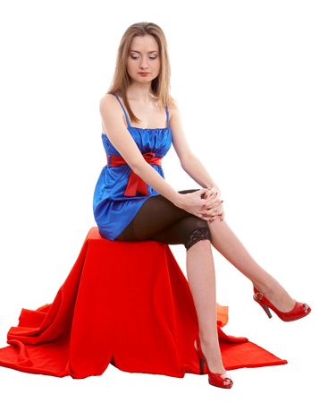 young female model on isolated background Stock Photo - 4093042