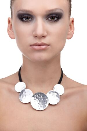 portrait of beautiful dark haired slavonic model Stock Photo - 4449737
