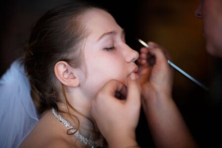 marriageable: Wedding make up of bride