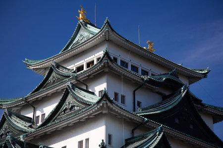 Summer view of Nagoya Castle under blue sky. Japan Stock Photo - 5714712