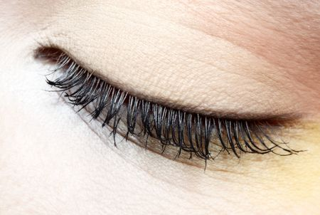 close-up of girl's eye zone make-up Stock Photo - 6090592