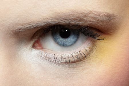 close-up of girl's eye zone make-up Stock Photo - 6090593