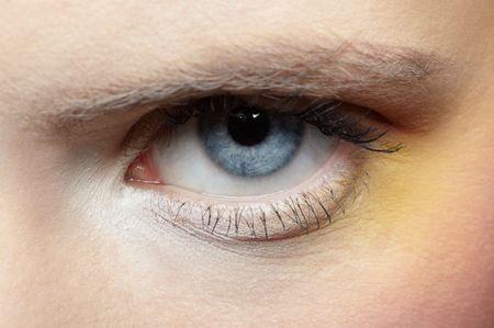 close-up of girl's eye zone make-up Stock Photo - 6090593