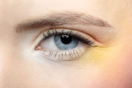 close-up of girl's eye zone make-up Stock Photo - 6090599