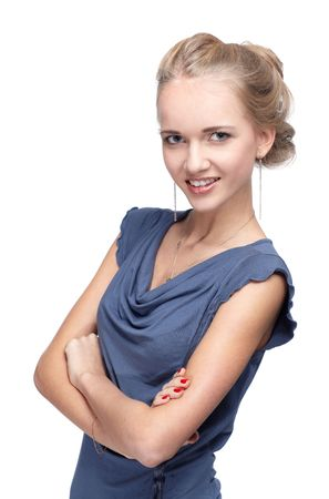 portrait of beautiful blonde blue-eyed girl Stock Photo - 6090805